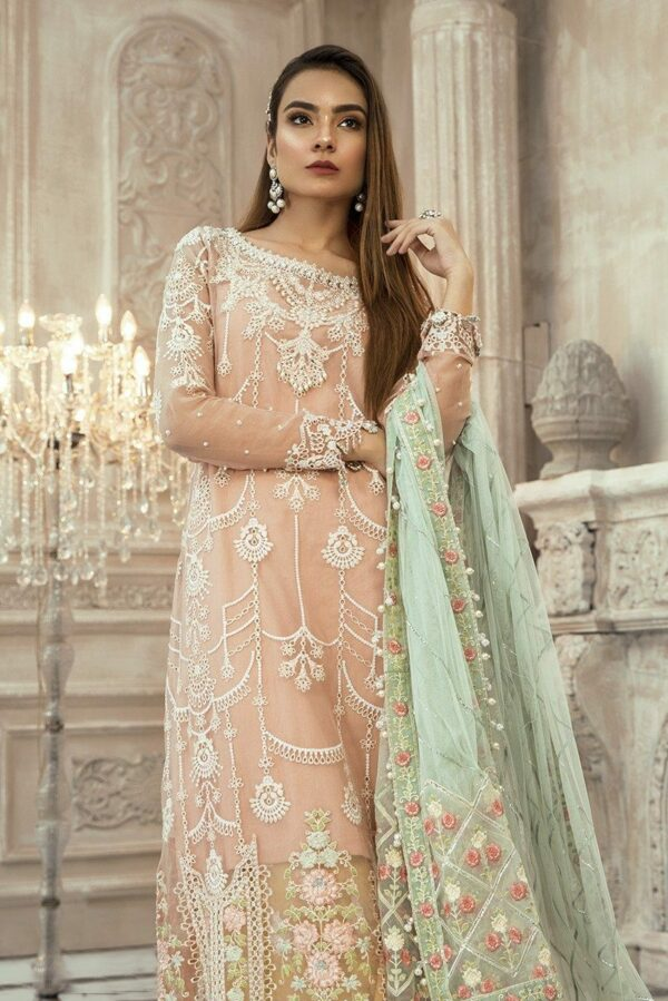 MARIAB EID Collection 2020 – Unstitched MBROIDERED – Pink (BD-1907) Miscellaneous