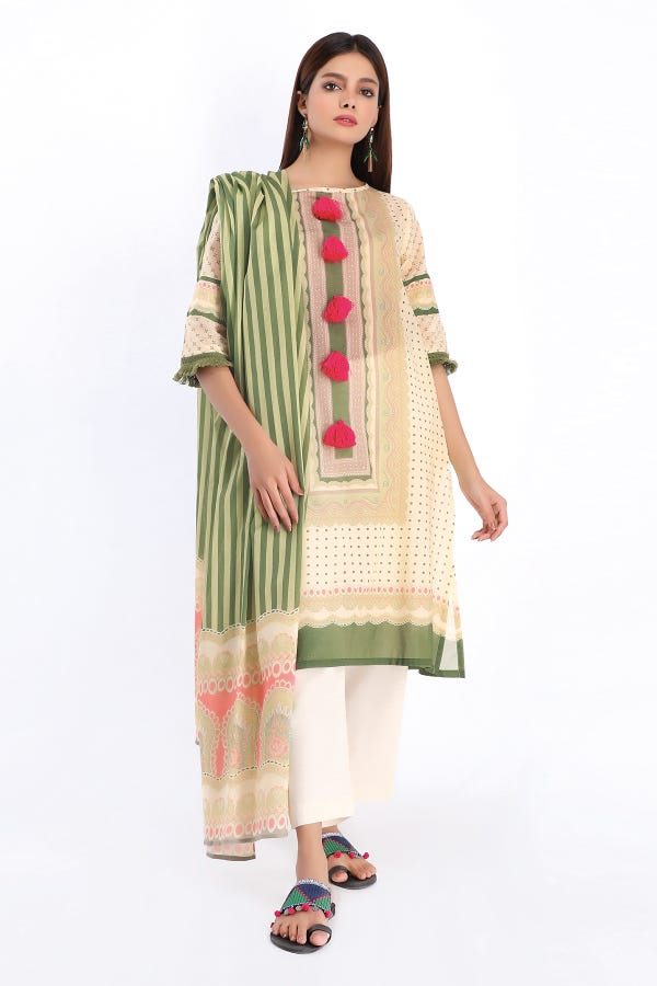The Color Story by Khaadi Lawn Collection – A20233 CREAM