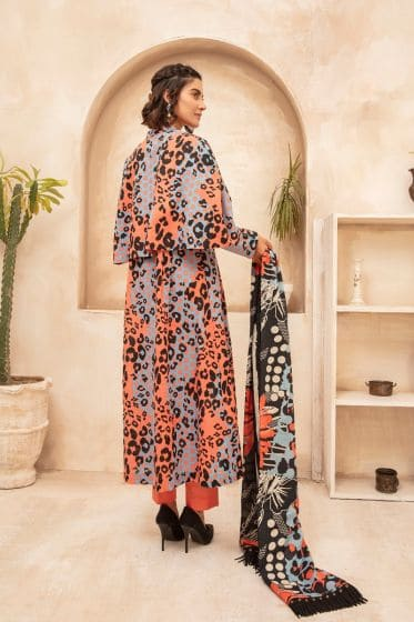 Nishat Linen Winter Collection 2020  -42003731 – Digital Printed Karandi & Khaddar Fabric – 3PC