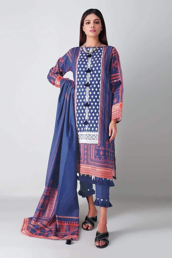 Khaadi Winter 2020 – BLK20406 Blue