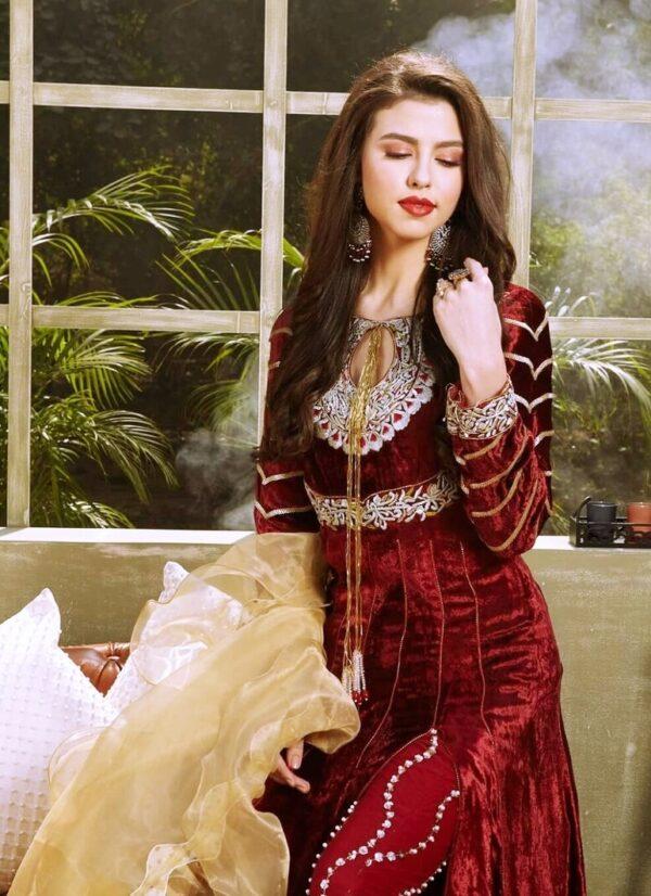 Zara Hayaat Festive Collection  – ROSE WOOD 20 W7 Zara Hayaat Festive Collection - Original
