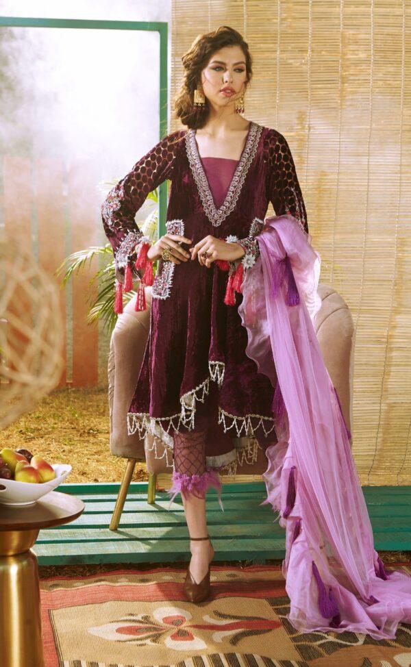 Zara Hayaat Festive Collection  – PERIWINKLE 20 W2 – RESTOCKED - Recently Restocked