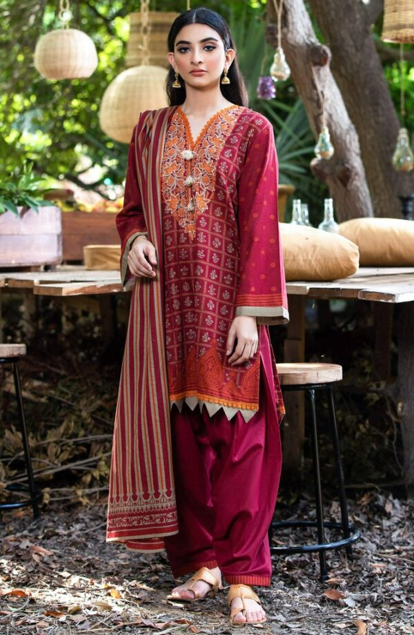 Dillab by Orient Textiles –   NRDS-262/U MAROON ~ Sold out