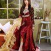 Zara Hayaat Luxury Lawn  – ROSE BERRY SS-01 Zara Hayaat Lawn with Tassels - Original