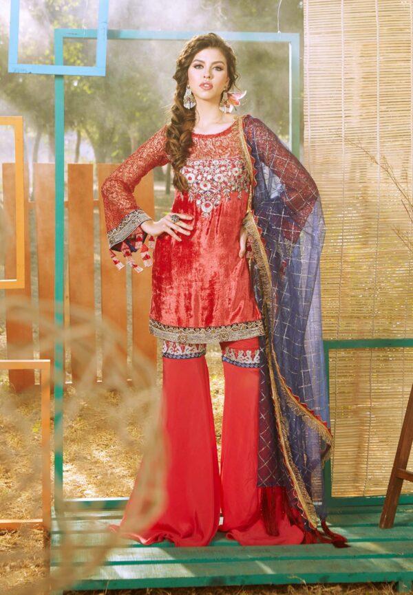 Zara Hayaat Festive Collection  – CRIMSON 20 W5 RESTOCKED Ready to Ship