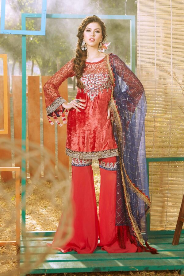 Zara Hayaat Festive Collection  – CRIMSON 20 W5 RESTOCKED