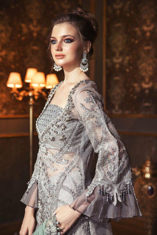 Maria. B – Mbroidered– Wedding Edition'20 D#5 STITCHED (MEDIUM SIZE- Sleeveless) *1 UP