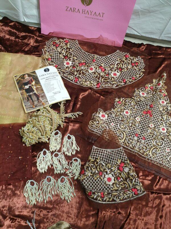 Zara Hayaat Festive Collection  – CARAMEL 20 W10 RESTOCKED Ready to Ship