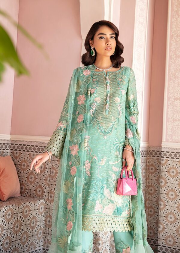 Afrozeh Nauratan Embroidered Chiffon – D-06 - Sold out