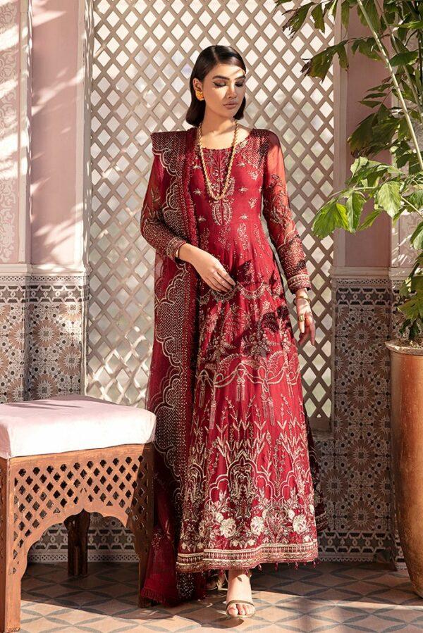 Afrozeh Nauratan Embroidered Chiffon – D-04 *Hot & Restocked