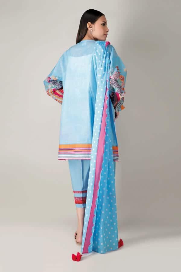 Khaadi Spring Lawn 2021  – A21107- Blue