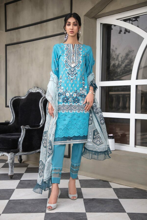 Adan Libas Schiffli Lawn 2021 Vol 4 – Design –  BLUE AWAY