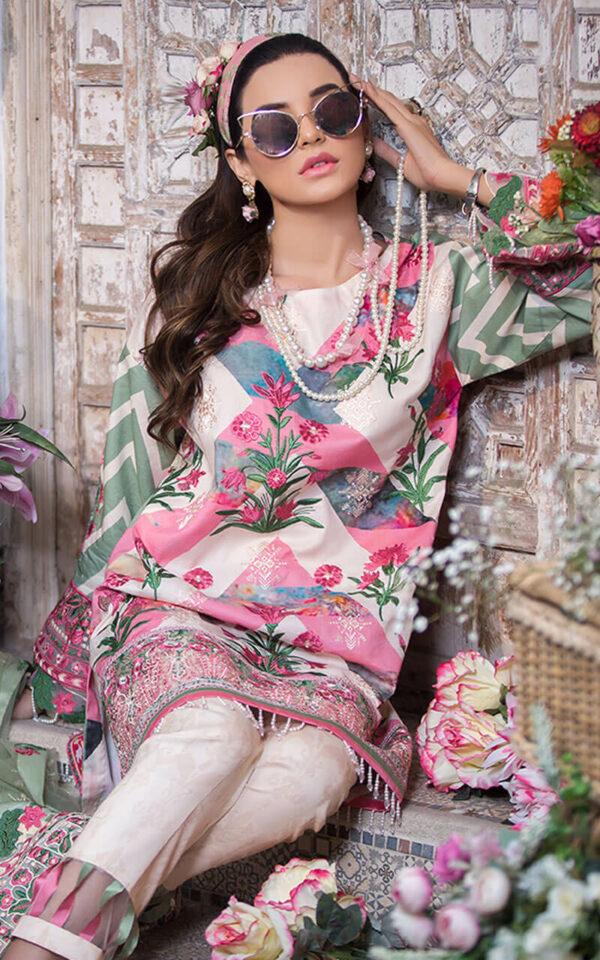 Asifa & Nabeel Luxury Eid Lawn  – Aleja LA-6 - Recently Restocked