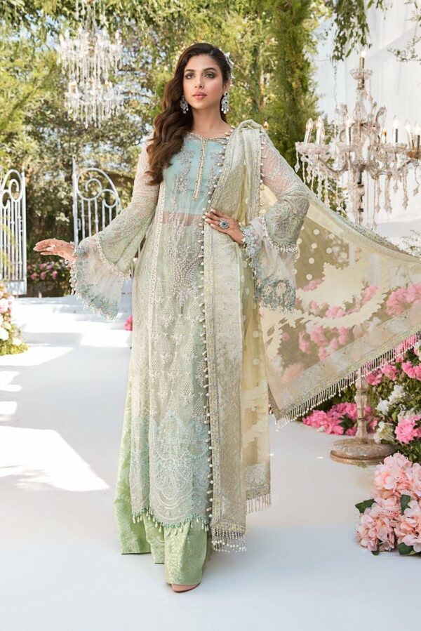 MARIA. B Mbroidered Unstitched Eid'21 –  Design D2