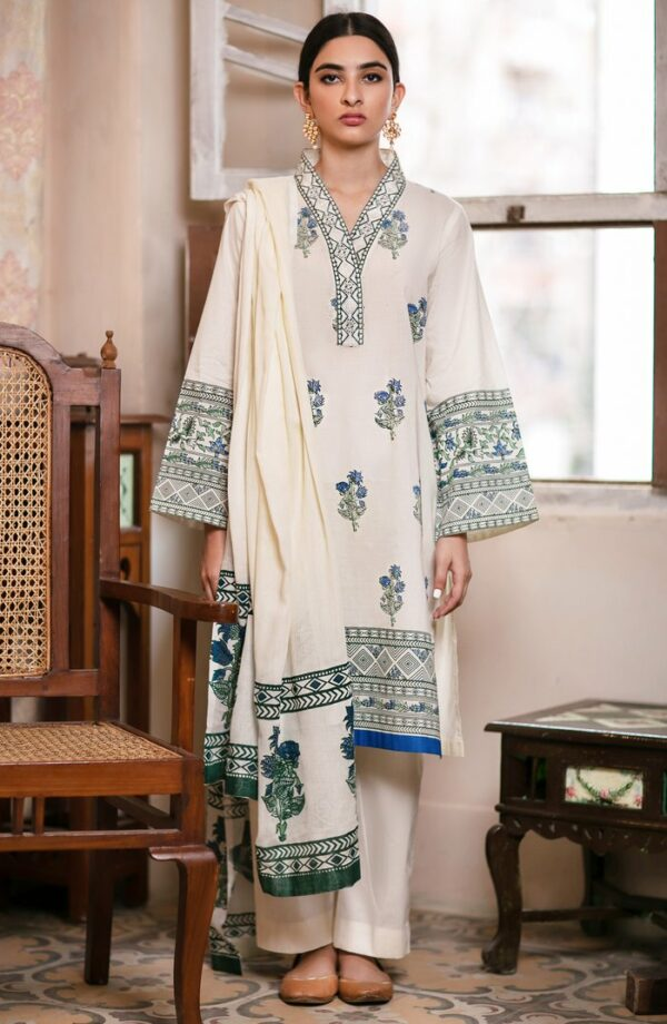 Orient Block Print Suit Ready to Ship