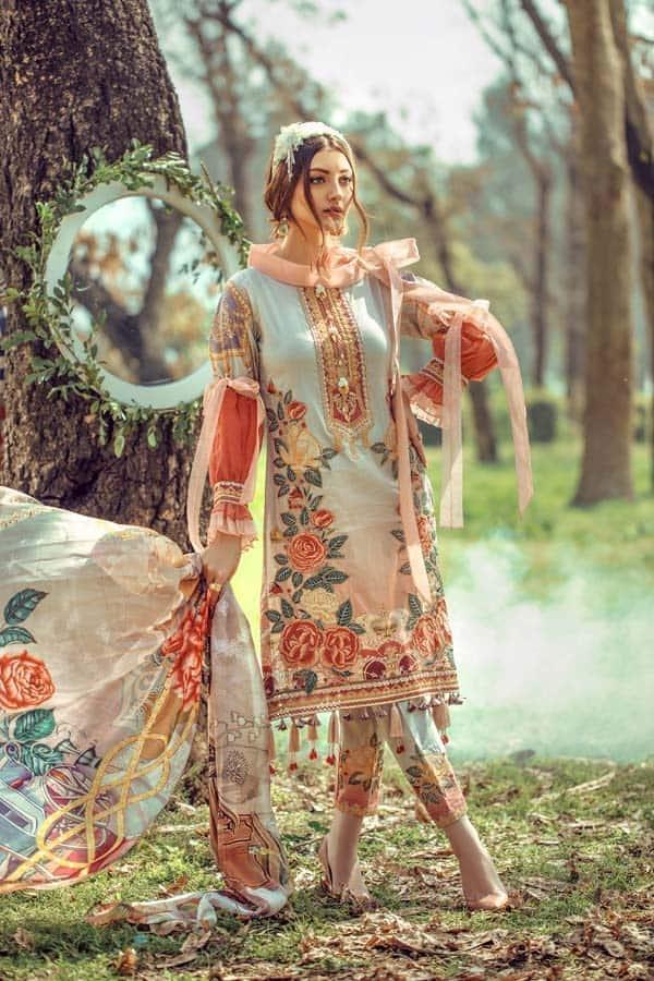 Embroidered Floral Silk Kurta Online