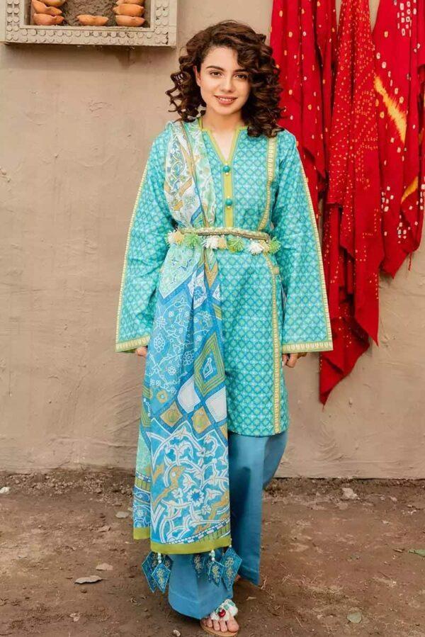 Gul Ahmed  3PC Digital Printed Lawn Suit CL-934 Low Range Pakistani Suits & Kurtis