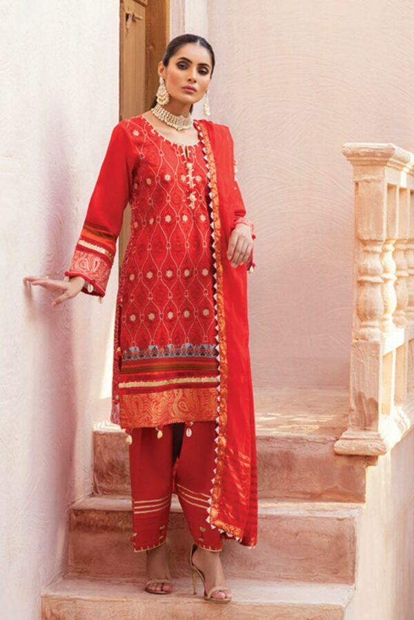 Al Zohaib Festive Hues Lawn Suit – FH208 - Recently Restocked