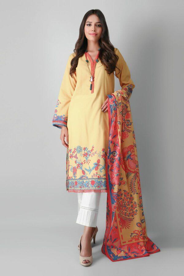 Khaadi Eid Edit Vol 2 –  L2104018 Yellow Low Range Pakistani Suits