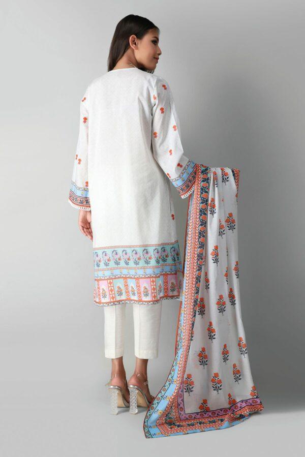 Khaadi Eid Edit Vol 2 –  M2103034 White Low Range Pakistani Suits