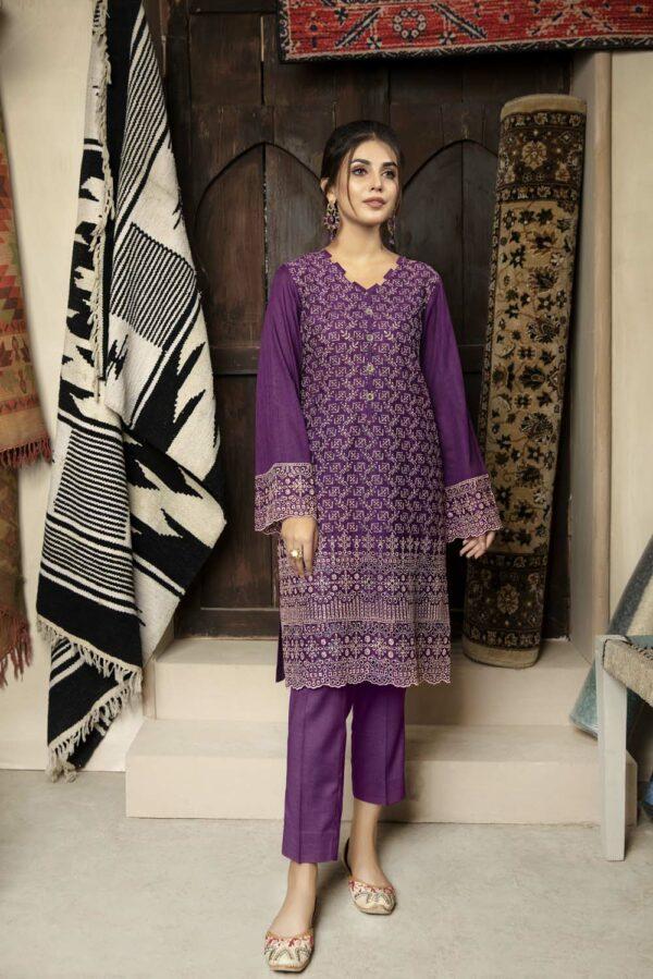 Adan's Libas Chikankari Embroidered Kurti – Stitched Size Large –  Rouge Low Range Pakistani Suits