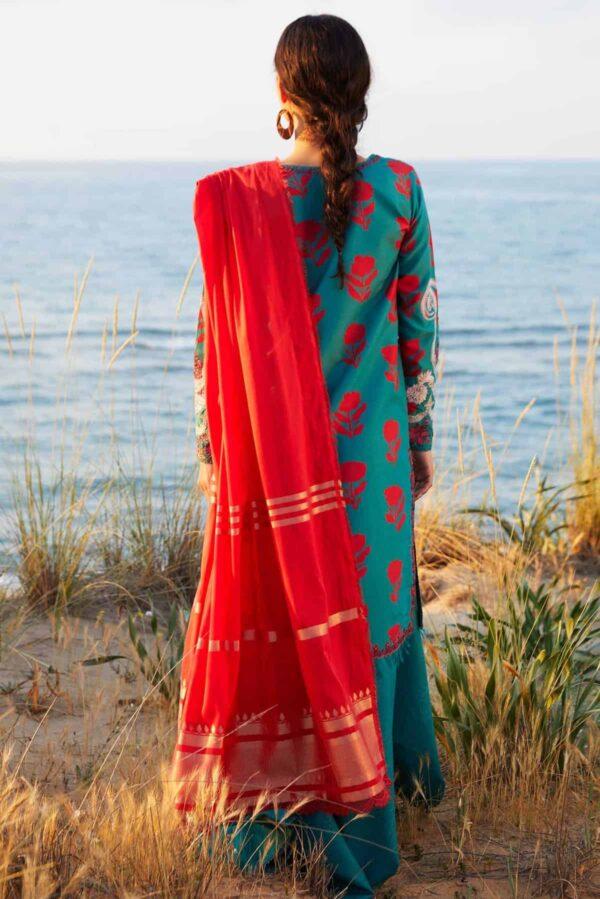 Zara Shahjahan Coco Luxury Lawn 2021 – 2B (SS-498) - Sale - Original