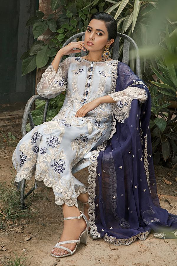 Sooraj Garh Chiffon Collection by Imrozia –   I-147 Surmai Bahar Ready to Ship