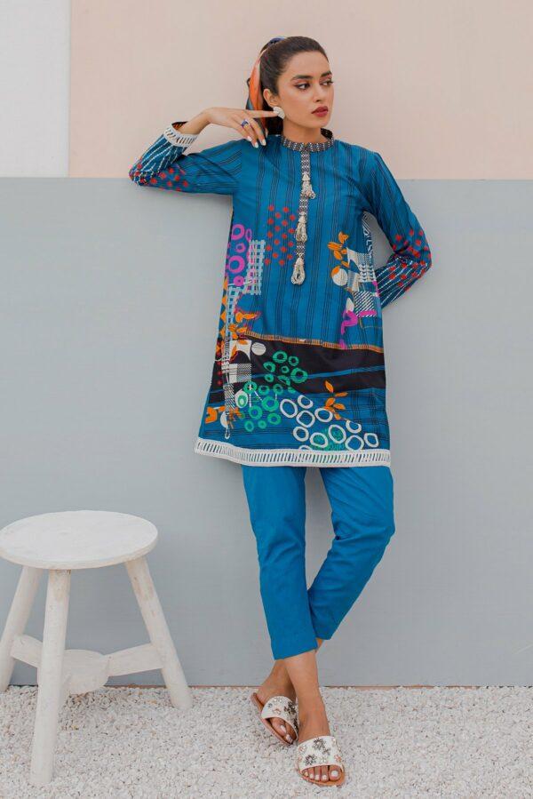 BTW Unstitched Designer Lawn Kurti – Moonit Ocean Low Range Pakistani Suits & Kurtis