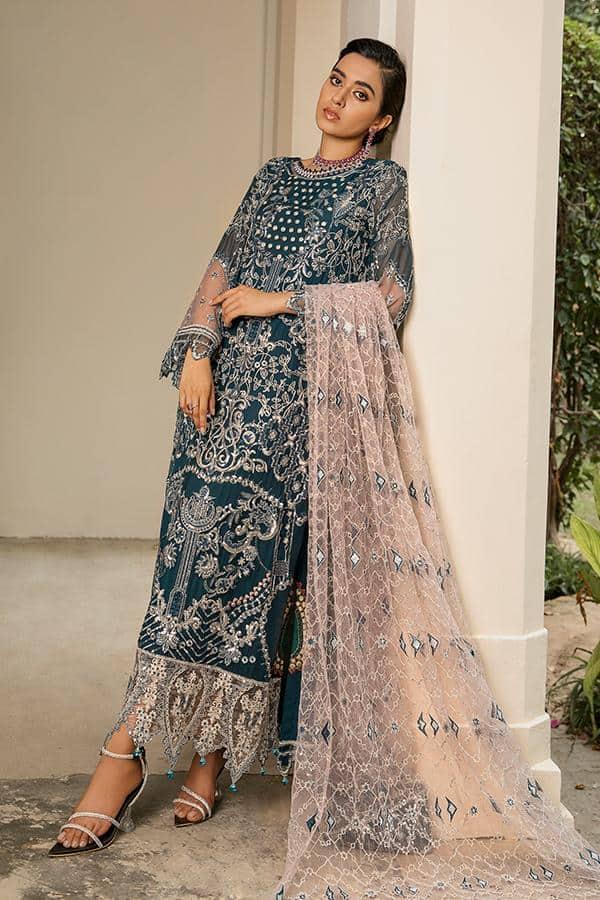 Sooraj Garh Chiffon Collection by Imrozia –  I-142 Zohra (SS-355) - Sale - Original