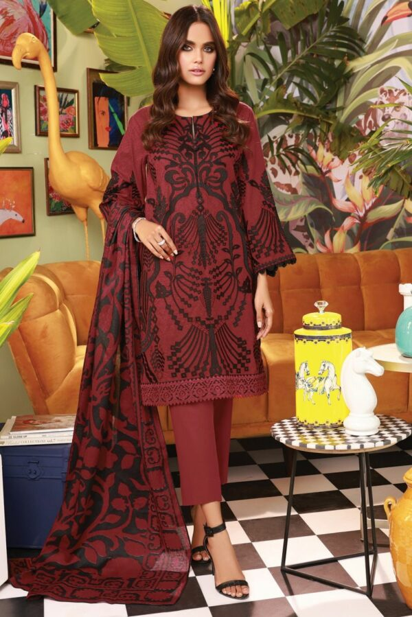 Alkaram Premium Collection –  PC-21-21-2-Red - Recently Restocked Pakistani Suits