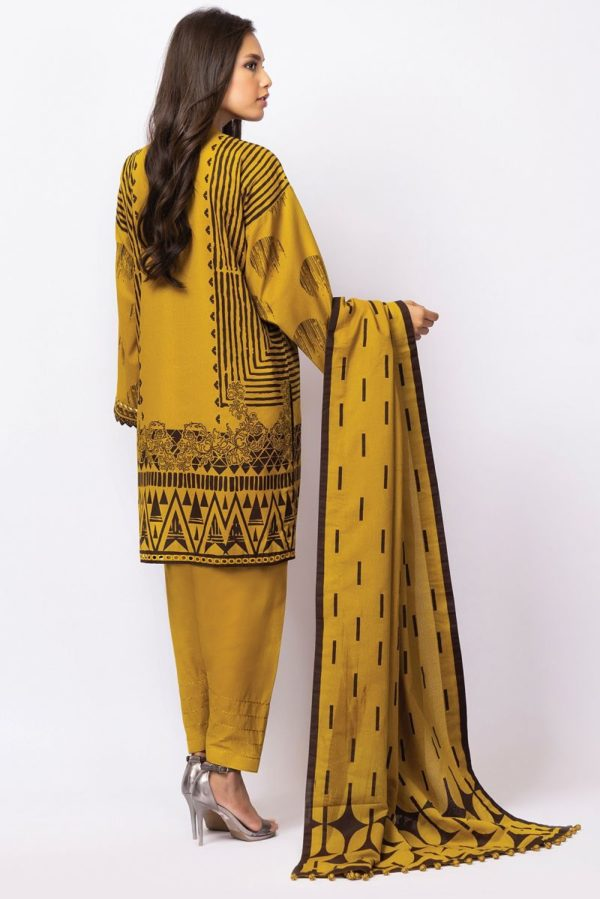 AlKaram Winter Collection 2021 – FW-22-21-Yellow AlKaram Winter Collection 2021 - Original