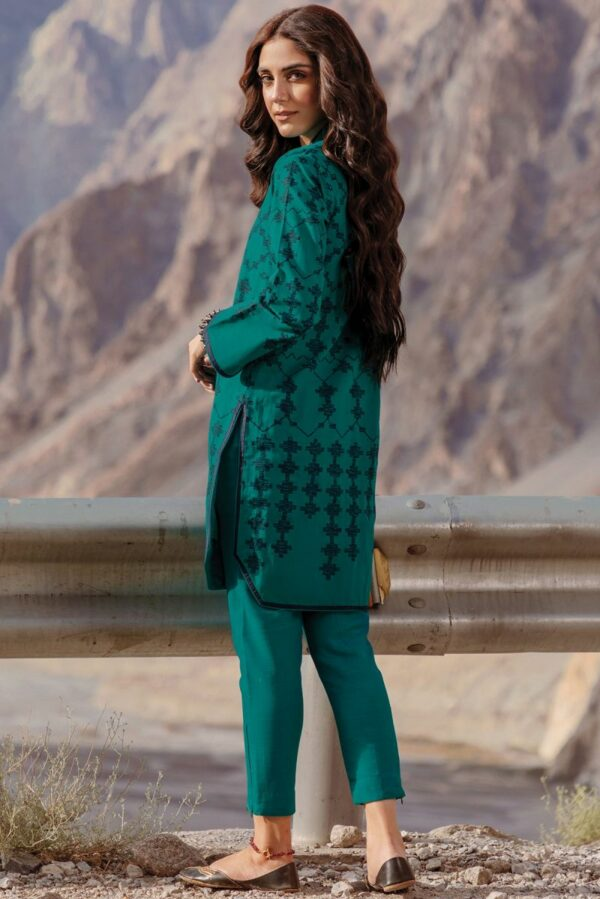 AlKaram Winter Collection 2021 –  FW-35.1-21-Turquoise AlKaram Winter Collection 2021 - Original